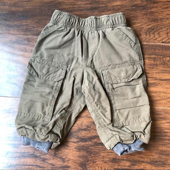 2e5be229a Oshkosh baby boy warm lined pants joggers 6months.  M_5bf2e2808ad2f9dd980108b7